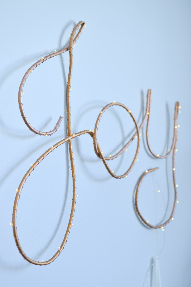 Christmas Diy Lighted Copper Joy Sign Saltwater Daughters